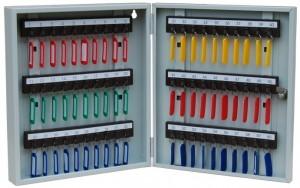 Металлические шкафы для ключей (ключницы)