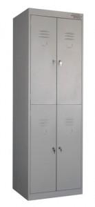 Металлические шкафы для одежды с двумя дверями ШРК